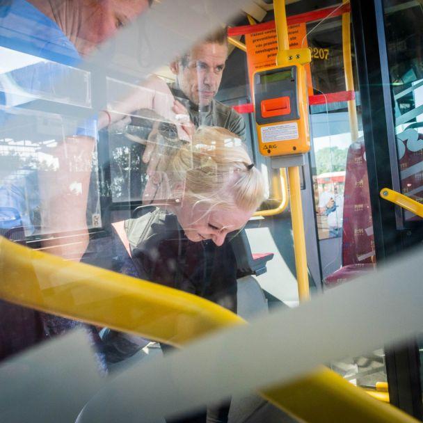 Tréning študentov vo verejnej doprave